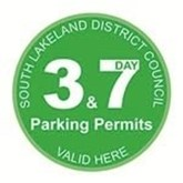 3 and 7 day parking pass green logo