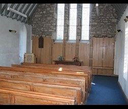 Inside of the chapel at Kendal Parkside cemetery