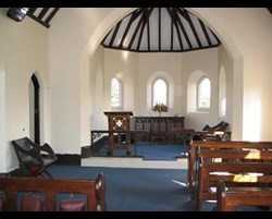 Inside the Ulverston cemetery chapel